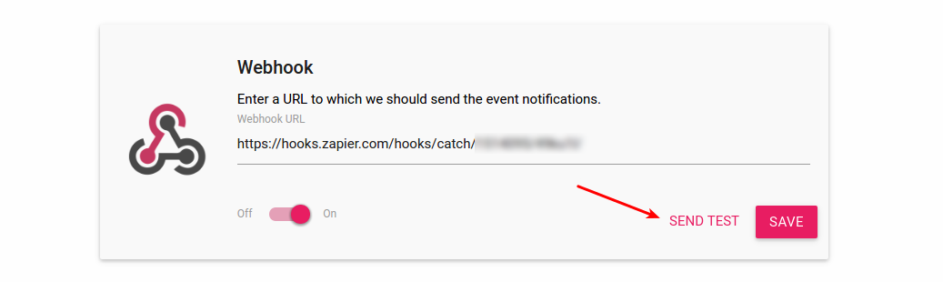 Webhook Test Button