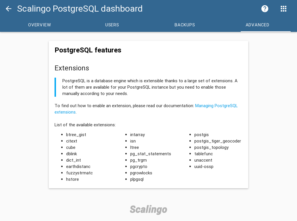 PostgreSQL Dashboard Advanced
