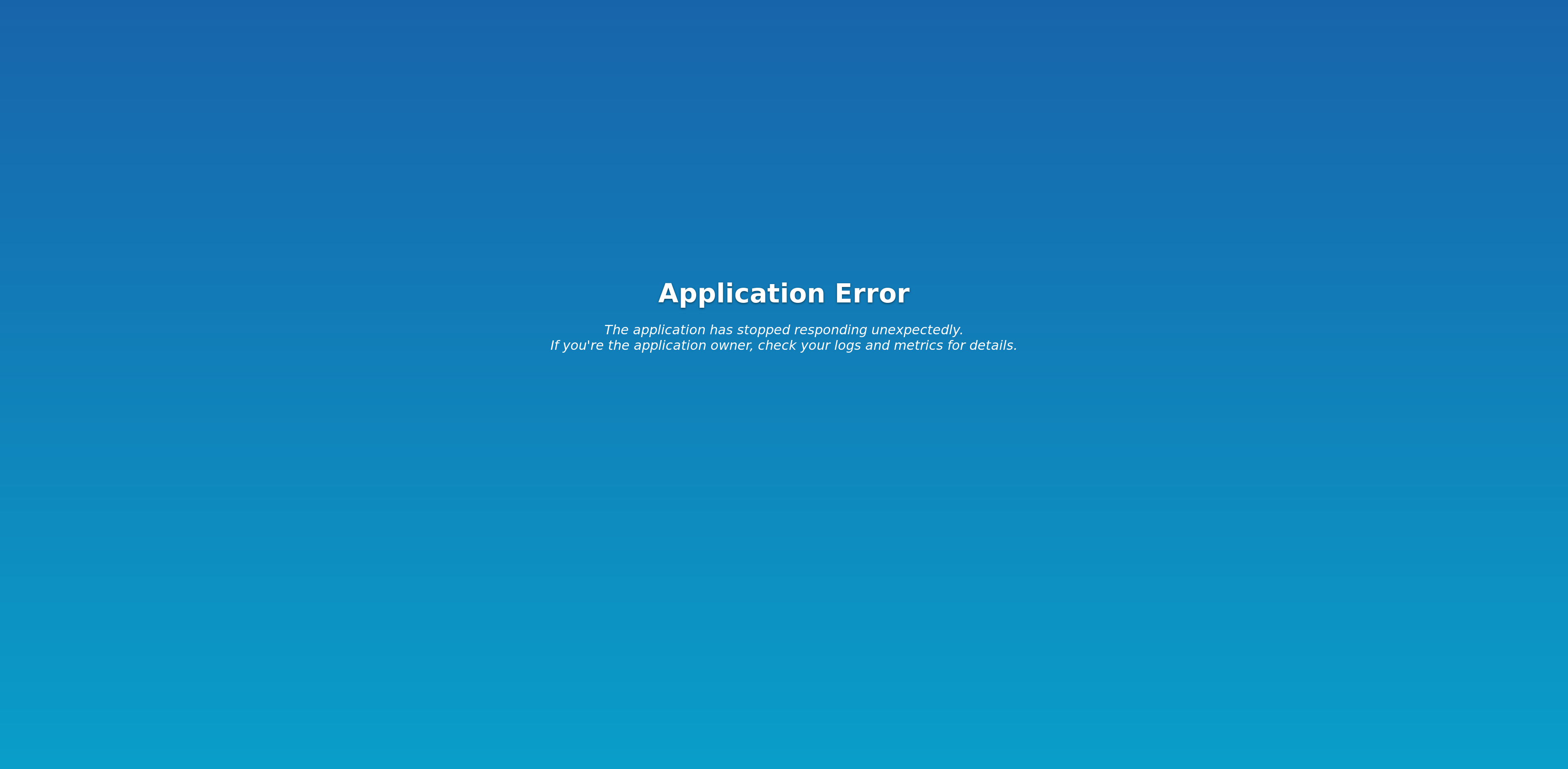 Scalingo default application error page